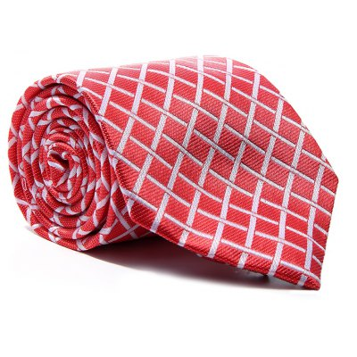 New Fashion Men's Accessory Business Necktie Striped Lattice Elegant Classic Tie