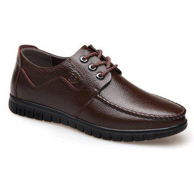 Leather Soft Middle-Aged Shoes