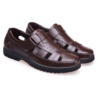 Middle Aged Men'S Leather Sandals for The Old Man'S Leather