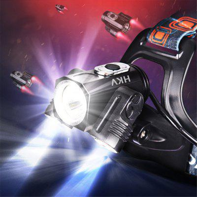 Buy HKV T6 6000K 4 Mode LED Rechargeable HeadLamp Waterproof 180 Degree Rotatable HeadLight Torch BLACK for $13.64 in GearBest store