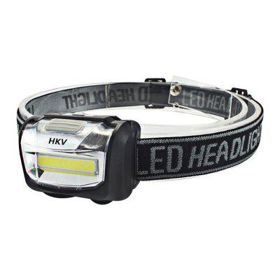 HKV COB LED Headlamp Mini Headlight Lanterna à prova de chuva Outdoor Camping Head Light