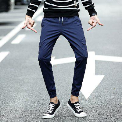 Mens Casual Pants Solid Color Drawstring PantsMens Pants<br>Mens Casual Pants Solid Color Drawstring Pants<br><br>Fit Type: Skinny<br>Front Style: Flat<br>Material: Cotton<br>Package Contents: 1 x Pants<br>Pant Length: Nine minutes of Pants<br>Pant Style: Harem Pants<br>Style: Casual<br>Waist Type: Mid<br>Weight: 0.3000kg<br>With Belt: No