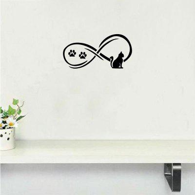 Cat-43  Cat And Claws Wall Sticker Creative Cartoon Animal Vinyl Wall Decal Home Decor