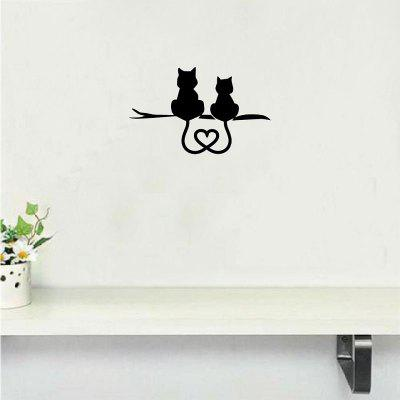 Cat-44  Cat Couple Resting Together Wall decor Creative Cartoon Animal Sticker