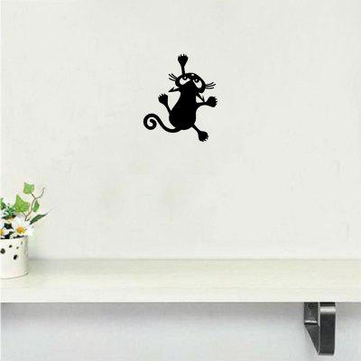 Cat-54  Funny Cat Climbing Wall Sticker Animal Vinyl Wall Decal for Kids Room Bedroom