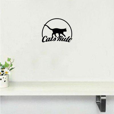 Cat-55  Funny Cats Rule Vinyl Wall Sticker Creative Animal Wall Decal  Wall Decoration