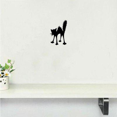 Cat-57  Halloween Angry Cat Silhouette Vinyl Wall Sticker Cartoon Animal Wall Decal