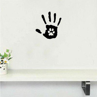 Dog-49   Creative Hand Print With Paw Print Dog Cat Pet Rescue Vinyl Wall Sticker∕Decal