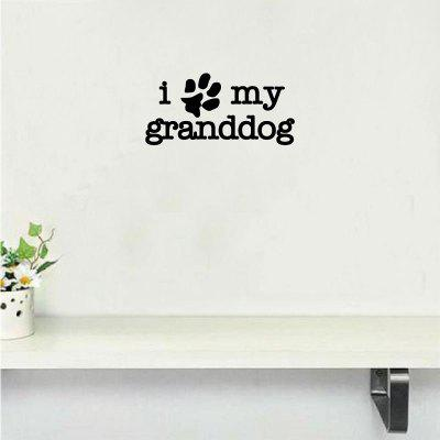 Dog 68 I Love My Granddog Wall Sticker Creative Cartoon Animal Dog