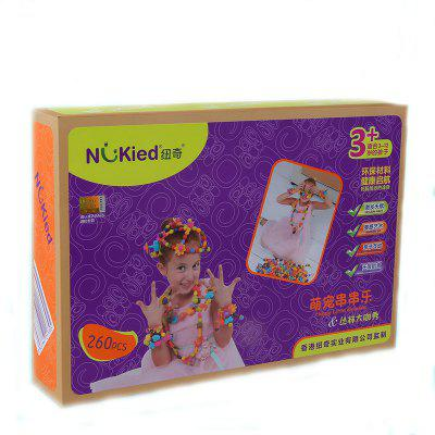 NK6824 DIY cordless Hand Beaded gnucci girl Children Toy Puzzle hand woven Bracelet 3-4-5 birthday