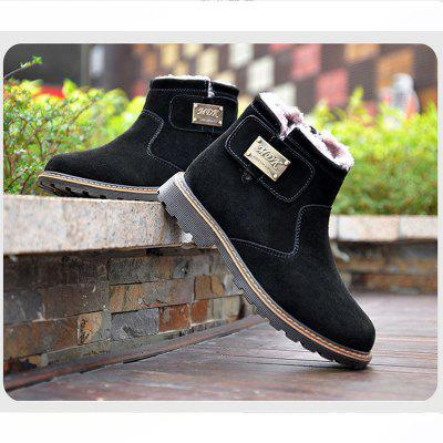 "Men Casual Trend for Fashion Slip on Snow Warm Winter Leather BootsMens Boots<br>Men Casual Trend for Fashion Slip on Snow Warm Winter Leather Boots<br><br>Boot Height: Ankle<br>Boot Type: Fashion Boots<br>Closure Type: Buckle Strap<br>Embellishment: Metal<br>Gender: For Men<br>Heel Hight: Low(0.75""-1.5"")<br>Heel Type: Low Heel<br>Outsole Material: Rubber<br>Package Contents: 1x Shoes(pair)<br>Pattern Type: Solid<br>Season: Winter<br>Toe Shape: Round Toe<br>Upper Material: Flock<br>Weight: 1.2000kg"