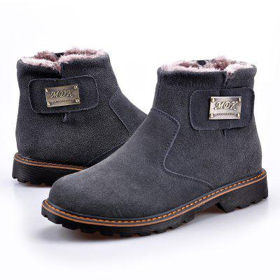 """Men Casual Trend for Fashion Slip on Snow Warm Winter Leather BootsMens Boots<br>Men Casual Trend for Fashion Slip on Snow Warm Winter Leather Boots<br><br>Boot Height: Ankle<br>Boot Type: Fashion Boots<br>Closure Type: Buckle Strap<br>Embellishment: Metal<br>Gender: For Men<br>Heel Hight: Low(0.75""""-1.5"""")<br>Heel Type: Low Heel<br>Outsole Material: Rubber<br>Package Contents: 1x Shoes(pair)<br>Pattern Type: Solid<br>Season: Winter<br>Toe Shape: Round Toe<br>Upper Material: Flock<br>Weight: 1.2000kg"""