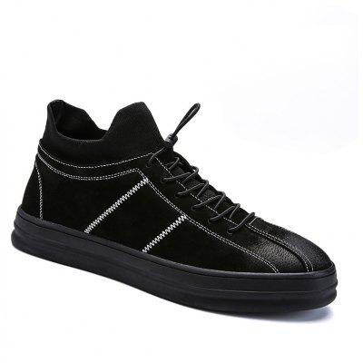 Men Casual Trend for Fashion Lace Up Leather Outdoor Shoes