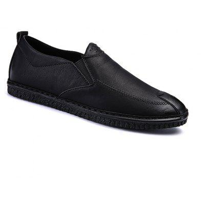 Men Casual Trend for Fashion Leather Slip on Flat Outdoor Shoes