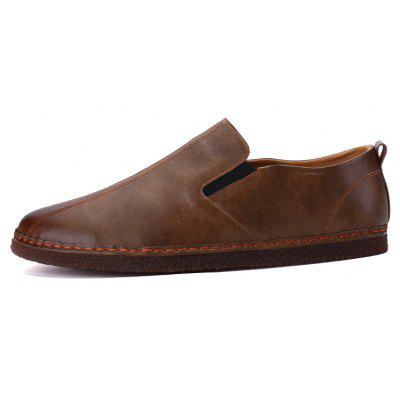 Men Casual Trend for Fashion Leather Slip on Outdoor Flat ShoesCasual Shoes<br>Men Casual Trend for Fashion Leather Slip on Outdoor Flat Shoes<br><br>Available Size: 39-44<br>Closure Type: Slip-On<br>Embellishment: None<br>Gender: For Men<br>Outsole Material: Rubber<br>Package Contents: 1x Shoes(pair)<br>Pattern Type: Solid<br>Season: Spring/Fall, Winter<br>Toe Shape: Round Toe<br>Toe Style: Closed Toe<br>Upper Material: Leather<br>Weight: 1.2000kg