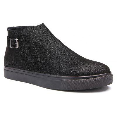 Men Casual Trend for Fashion Leather Slip on Outdoor Flat Ankle Boots Shoes