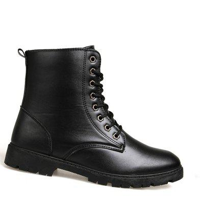 Botas de moda masculina Outdoor Lace Up Botas de lazer Casual High Top Shoes