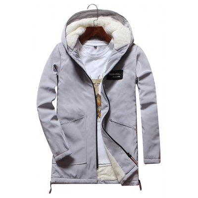 Men'S Fashion Casual Parka Winter Coats Mens Winter Jackets Stand Collar Warm Coat Hooded Coat