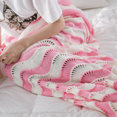 The New Product Knitted Wave Pattern Design Mermaid Tail BlanketBlankets &amp; Throws<br>The New Product Knitted Wave Pattern Design Mermaid Tail Blanket<br><br>Category: Blanket<br>For: All<br>Material: Knitting Wool<br>Occasion: Library, Study, Travel, School, Office, Dining Room, Bedroom, Bathroom, Living Room, KTV, Bar<br>Package Contents: 1 x Blanket<br>Package size (L x W x H): 40.00 x 40.00 x 3.00 cm / 15.75 x 15.75 x 1.18 inches<br>Package weight: 0.7000 kg<br>Product weight: 0.6500 kg