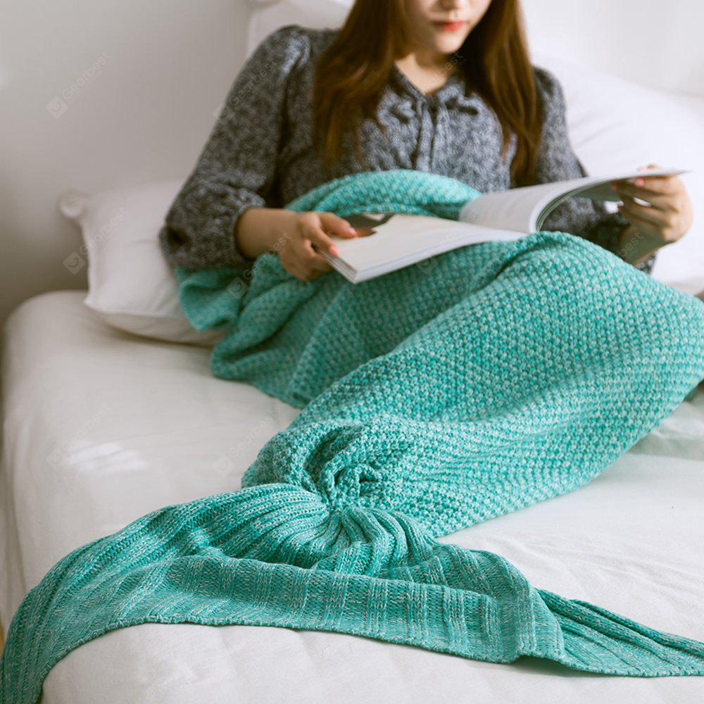 New Children Adult Contracted Mermaid Tail Blanket GREEN