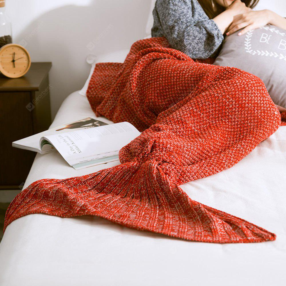 New Children Adult Contracted Mermaid Tail Blanket RED
