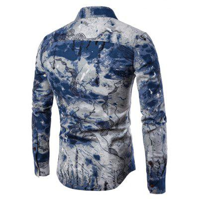 Men Long-Sleeved Printed Shirts Plus SizesMens Shirts<br>Men Long-Sleeved Printed Shirts Plus Sizes<br><br>Collar: Turn-down Collar<br>Material: Cotton, Cotton Blends<br>Package Contents: 1xShirts<br>Shirts Type: Casual Shirts<br>Sleeve Length: Full<br>Weight: 0.2000kg