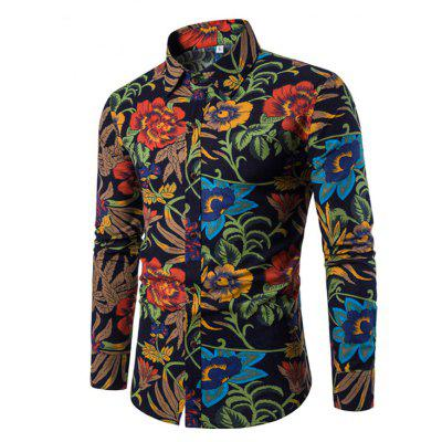 Man's Repair Long-Sleeved Shirts with Long Sleeves Plus Sizes