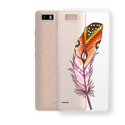 Colorful Feathers Pattern TPU Soft Phone Case for TECNO W3