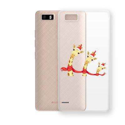 Scarf Deer Pattern TPU Soft Phone Case for TECNO W3