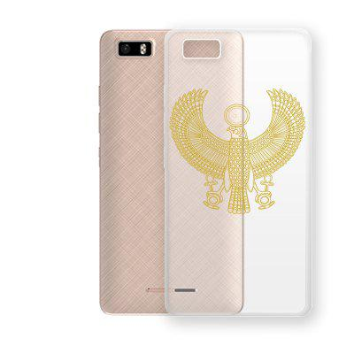 Golden Eagle Pattern TPU Soft Phone Case for TECNO W3