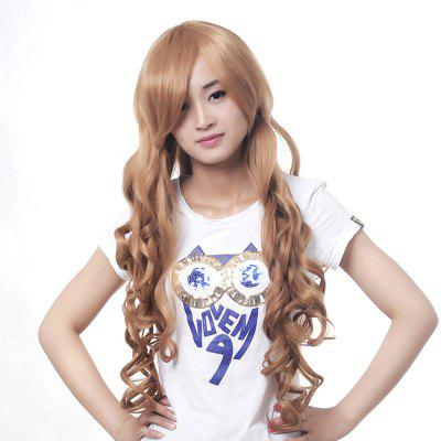 70 cm Golden Color Long Wavy Style Fashion Synthetic Hair Wig for Lady