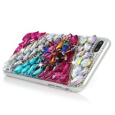 For iPhone 7 Plus/8 Plus Case 3D Handmade Crystal Shiny Diamonds Colorful Gems Rhinestone Clear Case Full Edge CoveriPhone Cases/Covers<br>For iPhone 7 Plus/8 Plus Case 3D Handmade Crystal Shiny Diamonds Colorful Gems Rhinestone Clear Case Full Edge Cover<br><br>Compatible for Apple: iPhone 7 Plus, iPhone 8 Plus<br>Features: Back Cover, Jewel Covered Cases<br>Material: TPU, PC<br>Package Contents: 1 x Phone Case<br>Package size (L x W x H): 17.00 x 11.00 x 2.00 cm / 6.69 x 4.33 x 0.79 inches<br>Package weight: 0.0950 kg<br>Product weight: 0.0850 kg<br>Style: Diamond Look, Glamorous Glitter, Diamond/Rhinestone Decorated Case, Cool Skulls
