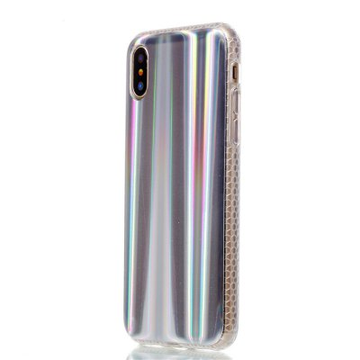 Luxury Laser Colorful Soft TPU Plating Cover for iPhone X Case