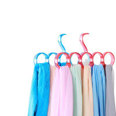 Fashion Simple Hanging Scarf Rack Two-Piece Belt Rack (5 Cells)