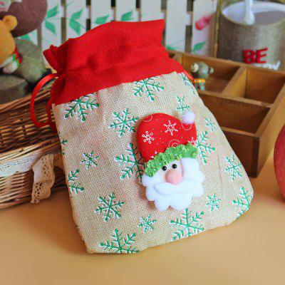 Chrismas Santa Claus Kids Candy Bags Handbag Pouch Wedding Sack Present Bag Christmas Decoration Cute Santa Gift Bag