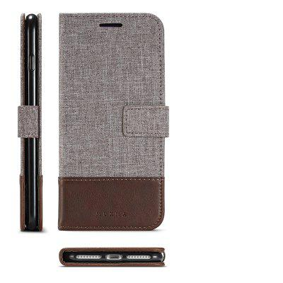 MUXMA Pure Color Retro Canvas Texture PU Leather Case Cover for iPhone 7 Plus / 8 PlusiPhone Cases/Covers<br>MUXMA Pure Color Retro Canvas Texture PU Leather Case Cover for iPhone 7 Plus / 8 Plus<br><br>Compatible for Apple: iPhone 7 Plus, iPhone 8 Plus<br>Features: Cases with Stand, With Credit Card Holder, Anti-knock, Dirt-resistant, FullBody Cases<br>Material: Textile, TPU, PU Leather<br>Package Contents: 1 x Phone Case<br>Package size (L x W x H): 20.00 x 10.00 x 3.00 cm / 7.87 x 3.94 x 1.18 inches<br>Package weight: 0.0520 kg<br>Product weight: 0.0470 kg<br>Style: Vintage, Stripe Pattern, Woven