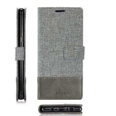 MUXMA Pure Color Retro Canvas Texture PU Leather Case Cover for Samsung Galaxy Note 8Samsung Note Series<br>MUXMA Pure Color Retro Canvas Texture PU Leather Case Cover for Samsung Galaxy Note 8<br><br>Compatible for Samsung: Samsung Galaxy Note 8<br>Features: Full Body Cases, Cases with Stand, With Credit Card Holder<br>Material: Textile, TPU, PU Leather<br>Package Contents: 1 x Phone Case<br>Package size (L x W x H): 20.00 x 10.00 x 3.00 cm / 7.87 x 3.94 x 1.18 inches<br>Package weight: 0.0510 kg<br>Product weight: 0.0460 kg<br>Style: Vintage, Stripe Pattern
