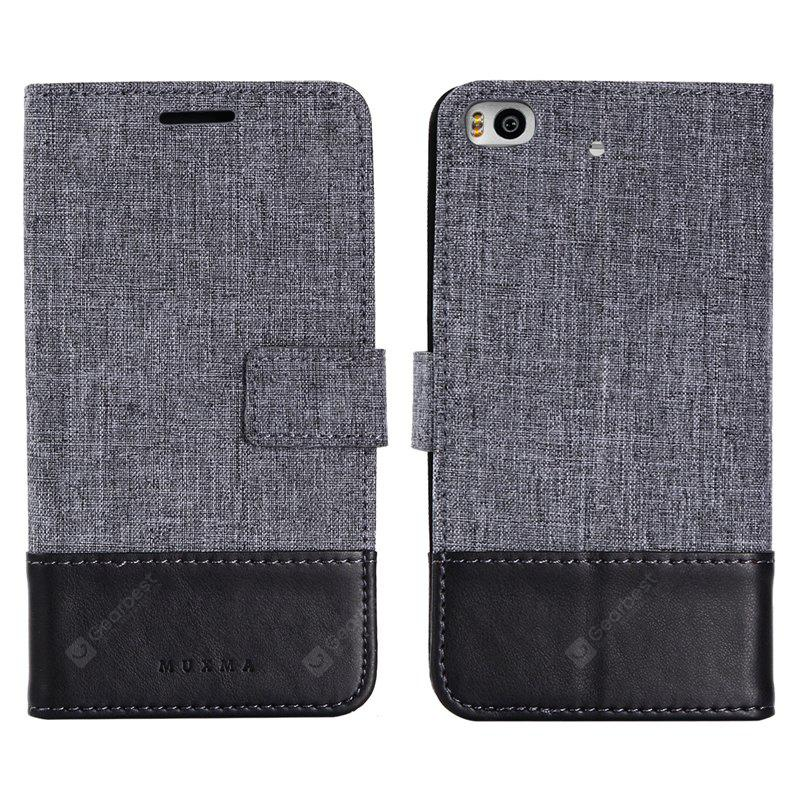 Custodia in pelle MUXMA Pure Color Retro Canvas Texture per Xiaomi 5S