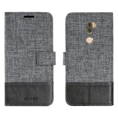Custodia in pelle MUXMA Pure Color Retro Canvas Texture per Xiaomi 5S Plus