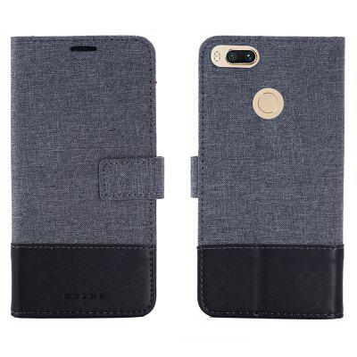 Custodia in pelle MUXMA Pure Color Retro Canvas Texture per Xiaomi 5X