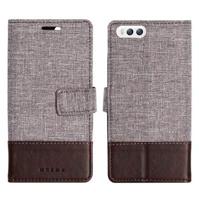Custodia in pelle MUXMA Pure Color Retro Canvas Texture per Xiaomi 6