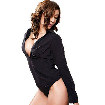 Sexy Low-Cut V-Neck Shirt with Long Sleeves JumpsuitsJumpsuits &amp; Rompers<br>Sexy Low-Cut V-Neck Shirt with Long Sleeves Jumpsuits<br><br>Elasticity: Elastic<br>Fabric Type: Broadcloth<br>Fit Type: Regular<br>Material: Polyester, Spandex<br>Package Contents: 1 x Jumpsuits<br>Package weight: 0.1540 kg<br>Pattern Type: Others<br>Style: Sexy<br>With Belt: No
