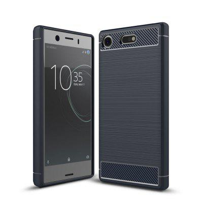 Luxury Carbon Fiber Anti Drop TPU Soft Cover Case for Sony Xperia XZ1 Compact 4.6 Inch