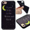 Moon Pattern TPU Soft Case para iPhone 7/8 - PRETO