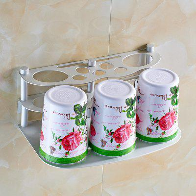 Bathroom Space Aluminum Toothbrush Holder and Toothbrush Cup Set