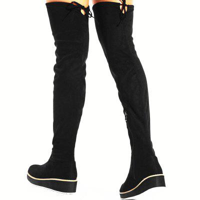Round Toe Flat Over Knee BootsWomens Boots<br>Round Toe Flat Over Knee Boots<br><br>Boot Height: Over-the-Knee<br>Boot Type: Fashion Boots<br>Closure Type: Zip<br>Gender: For Women<br>Heel Type: Wedge Heel<br>Package Contents: 1 x shoes(pair)<br>Pattern Type: Others<br>Season: Spring/Fall, Winter<br>Toe Shape: Round Toe<br>Upper Material: Suede<br>Weight: 1.5600kg