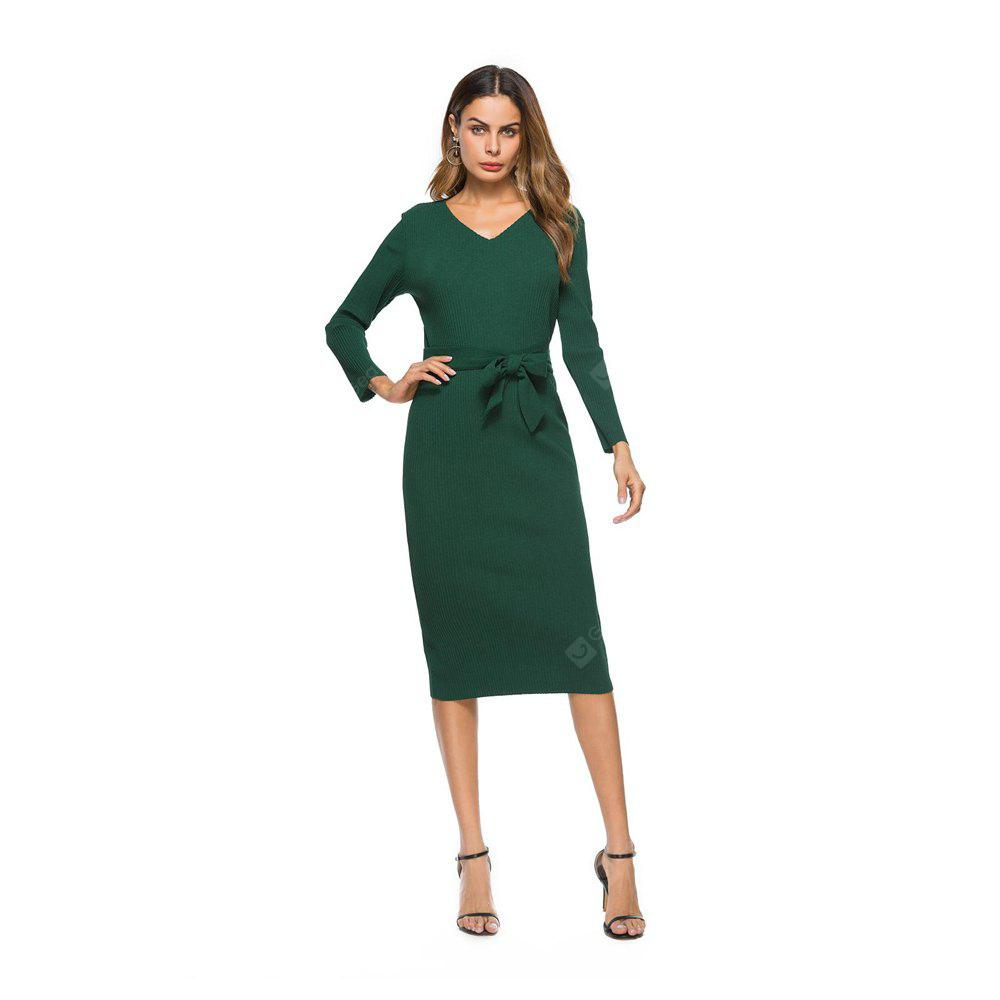 New Women'S Retro Temperament Slim Long Dress