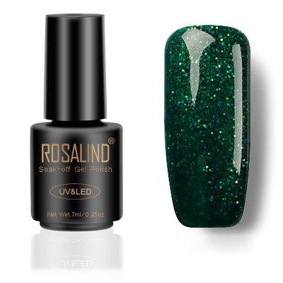 ROSALIND Phototherapy Glue Nail Color Drill Series Black 7 Ml Bottle