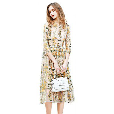 2018 New Women'S Clothing Embroidered Brand Dress
