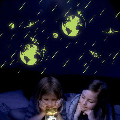 Cosmic Meteor Shower Luminous Stickers Fluorescent Bedroom  Decorative Wall Stickers